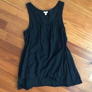 Odille for Anthro black sleeveless blouse